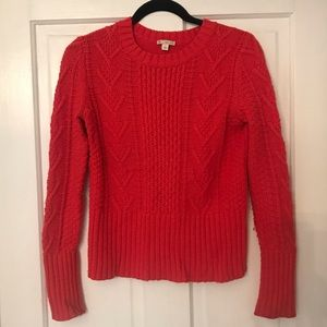 Preppy red sweater